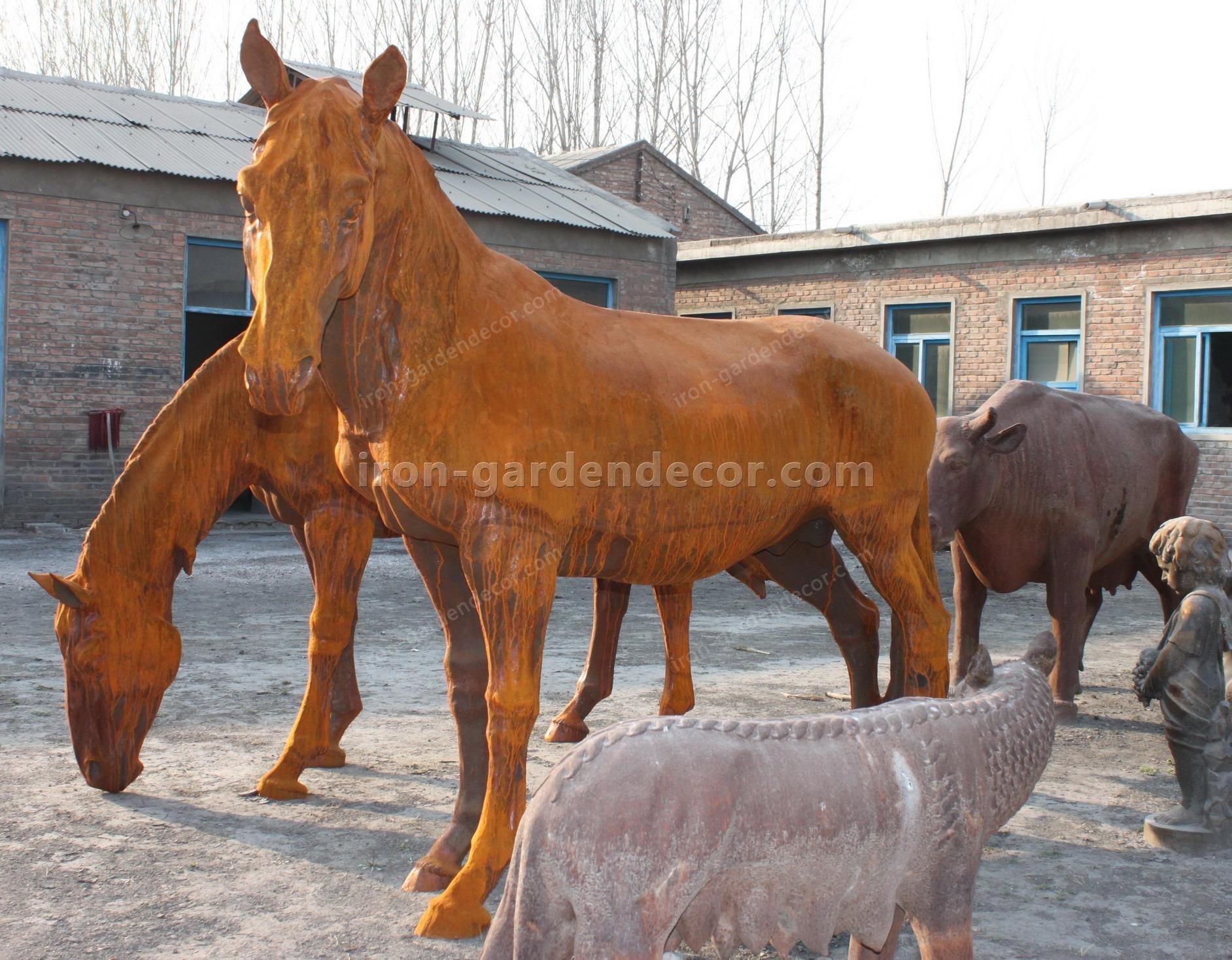 normal size cast iron animal of horse garden animal, large horse animal-G1275 (2)
