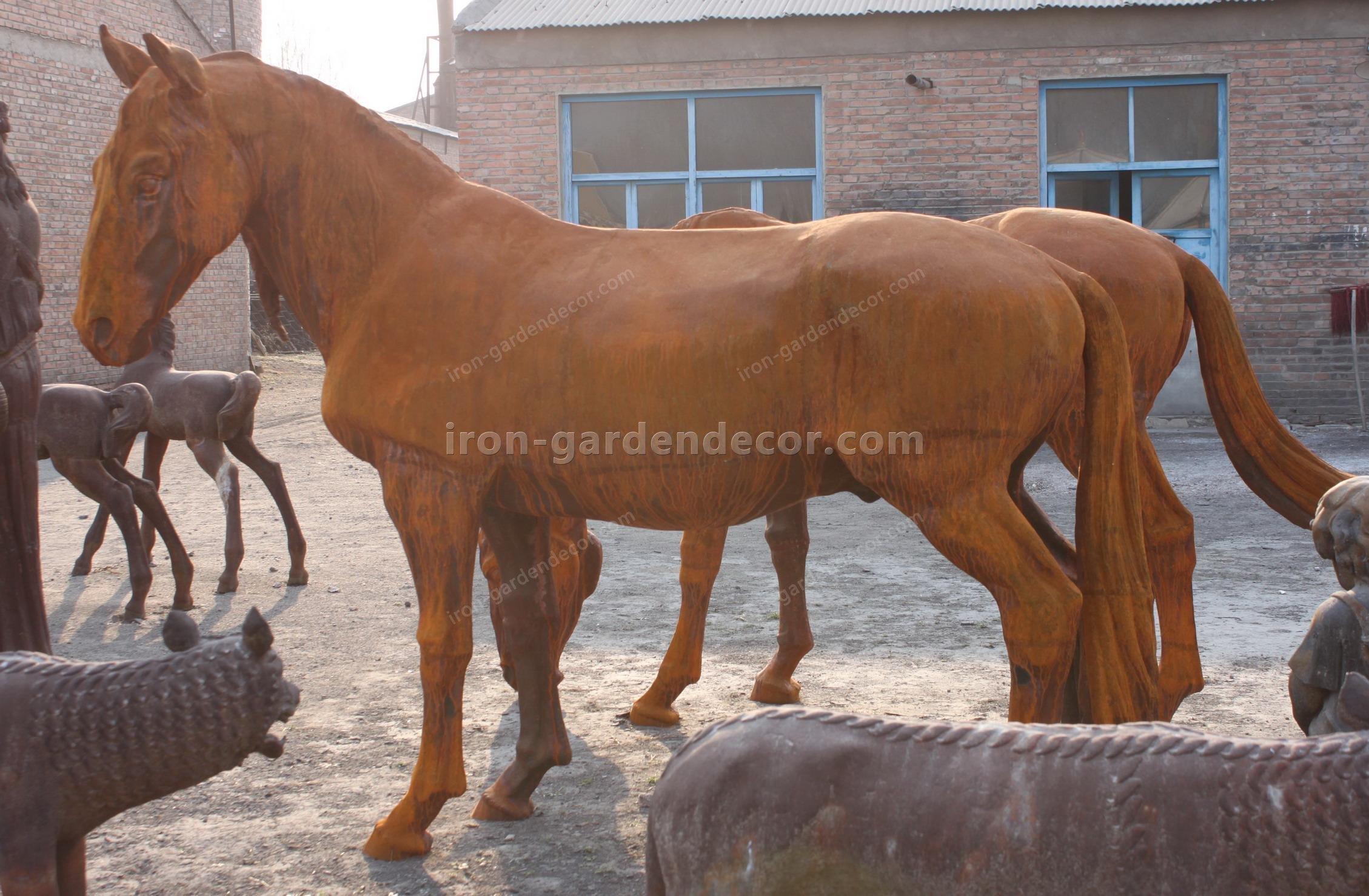 normal size cast iron animal of horse garden animal, large horse animal-G1275 (3)