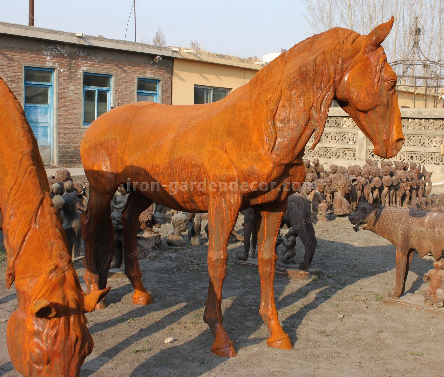 normal size cast iron animal of horse garden animal, large horse animal-G1275 (4)