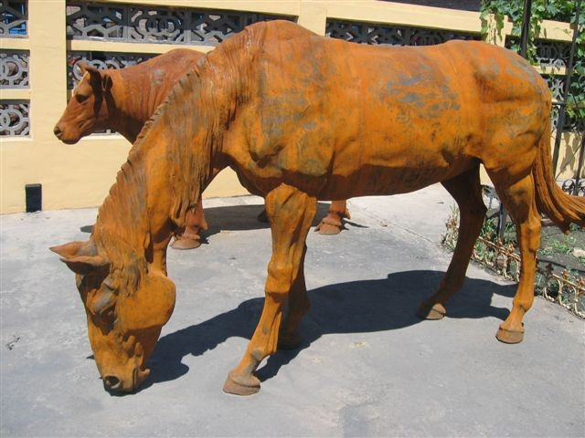 large iron horse for garden docoration, rust large horse down head-G1276 (2)