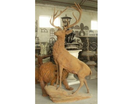 metal animal,cast iron stag,iron stags,animal