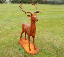 iron garden deers,garden animals,metal animal-T-4179
