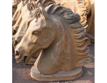 cast iron garden horse heads, animal heads