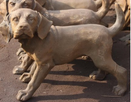 cast iron garden statues,small cast iron animals, ieon dog, iron small dogs