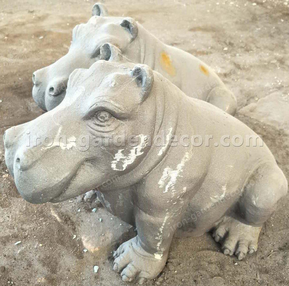 iron metal animal of small hippo for garden decor-NS1529(2)