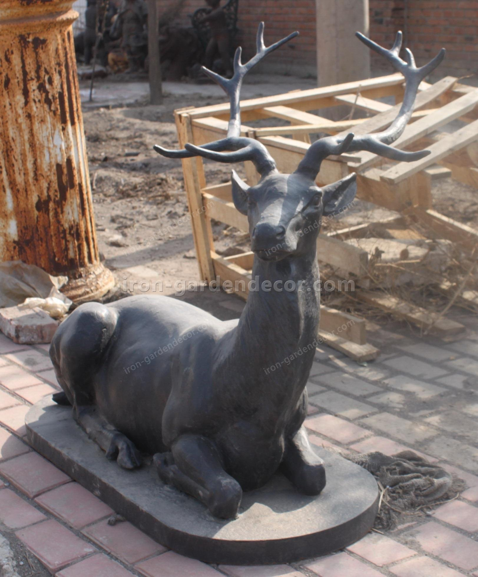 cast iron stag,animal,iron stags,cast iron animal banks,cast iron animal heads,cast iron animal banks,metal a-T-4178 (1)