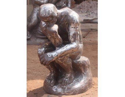 garden statue of the thinker,cast iron statue,statue metal,iron thinker