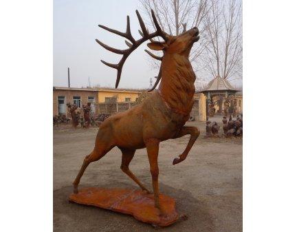 cast iron animal banks,iron stags,cast iron stag,metal animal