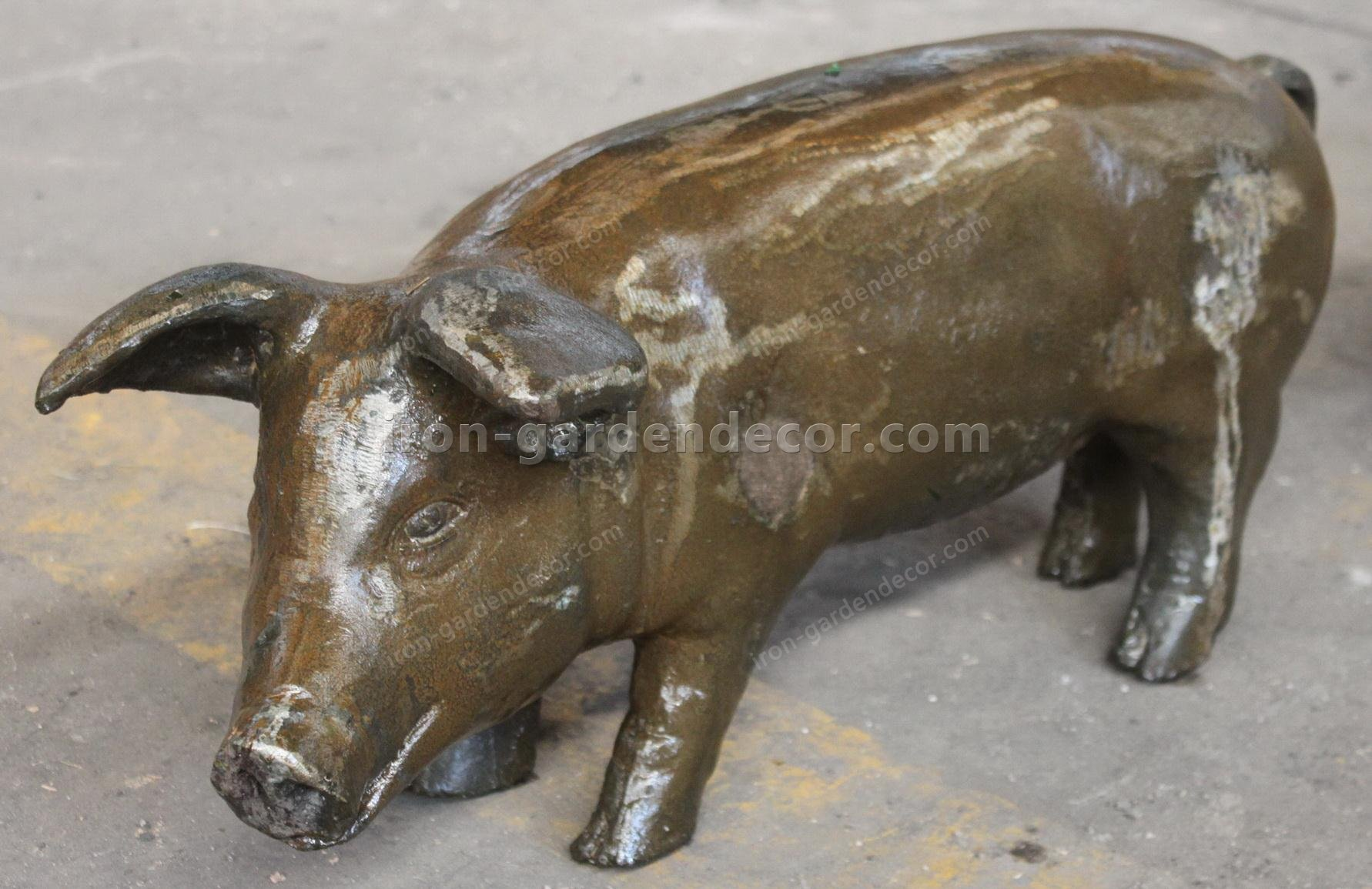 small iron items,the metal pig,small cast iron animals,big metal chicken,metal chickens for garden-NS1523(2)
