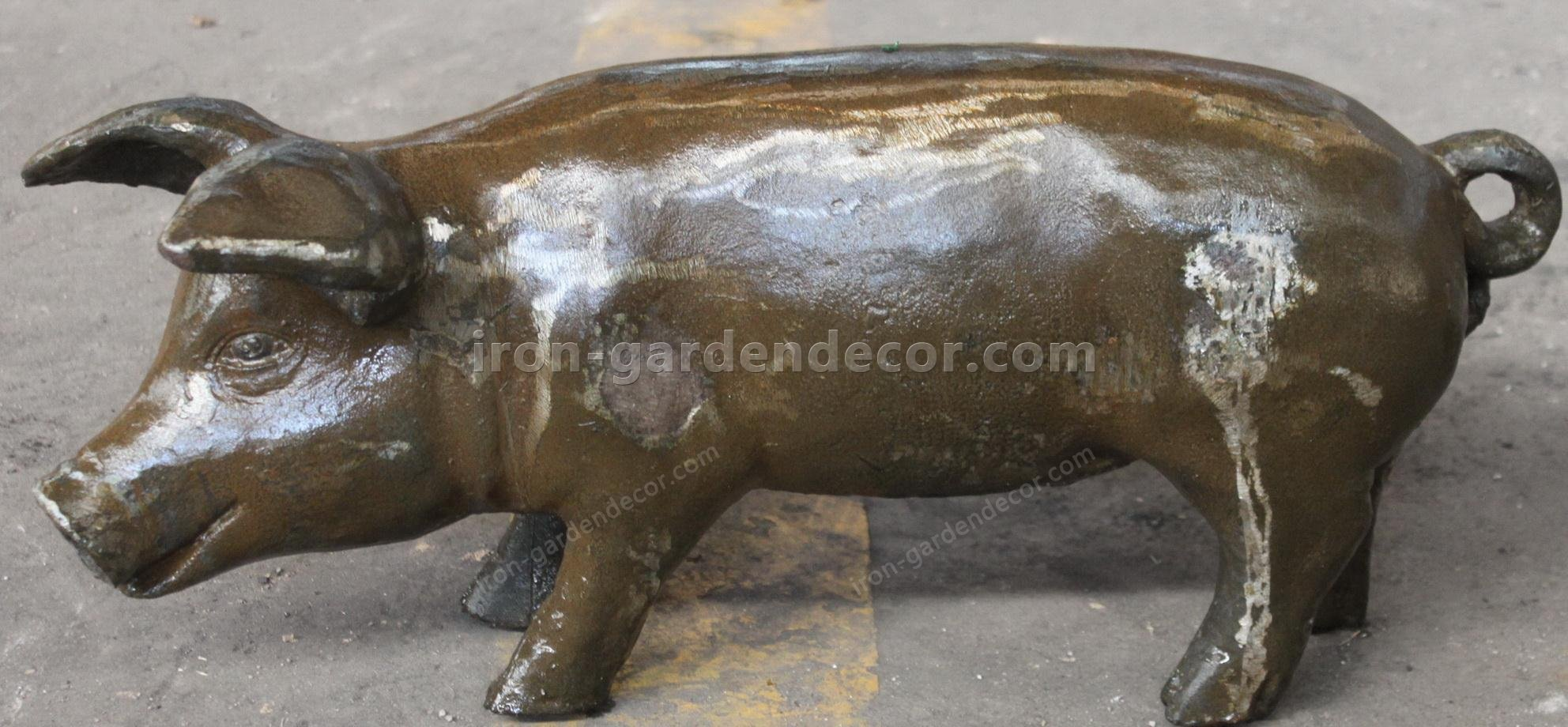 small iron items,the metal pig,small cast iron animals,big metal chicken,metal chickens for garden-NS1523