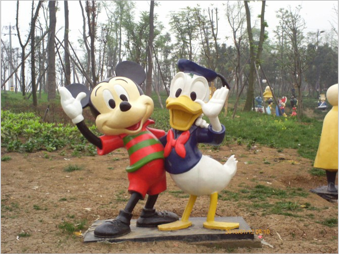 Cartoon Sculpture,Cartoon Statue of Donald Duck-9