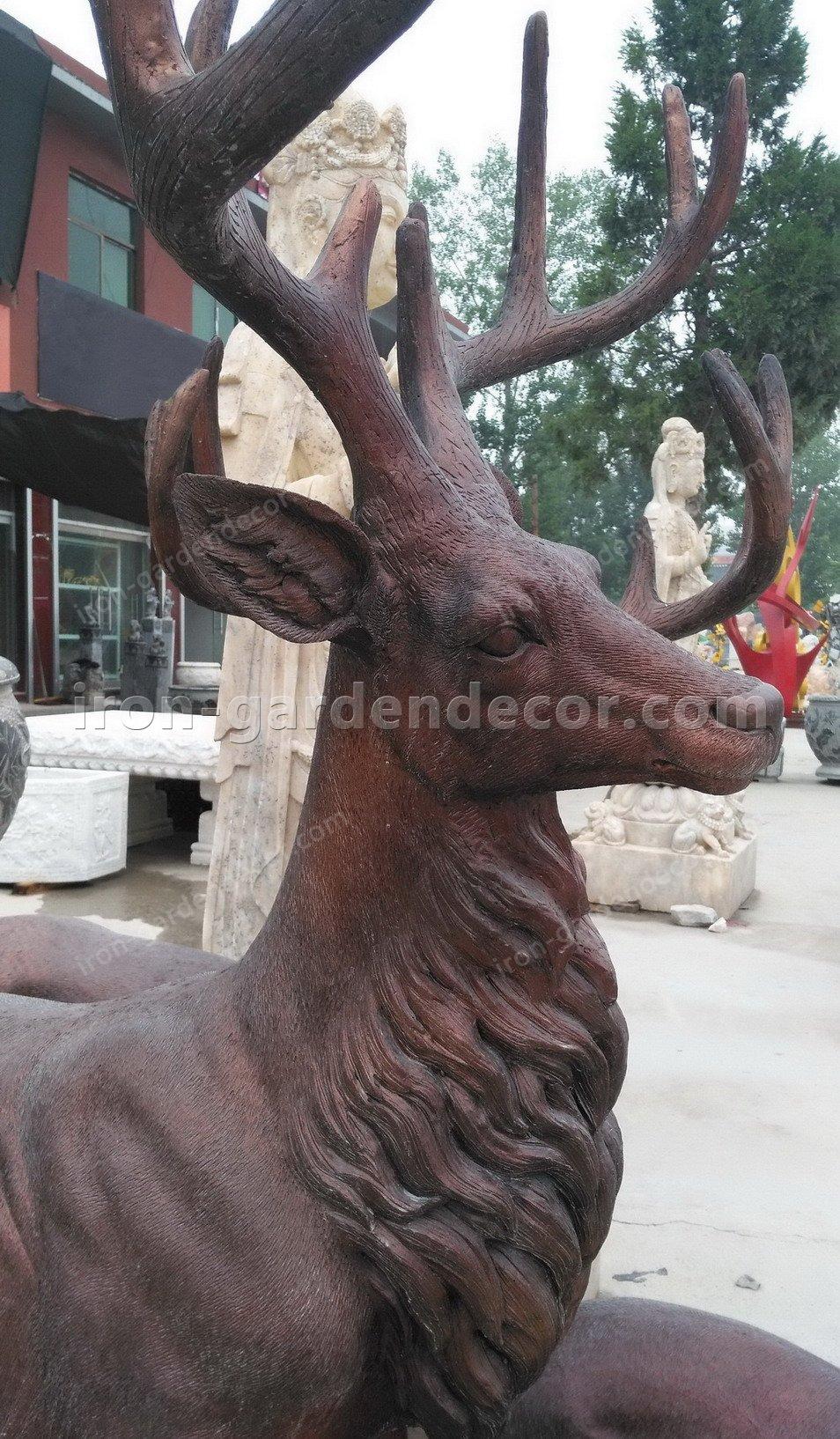 Home decoration outdoor garden stage animal resin statue fiberglass-DEER FAMILY FS076 (2)