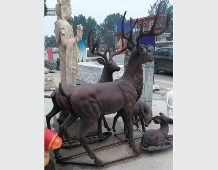 Home decoration outdoor garden stage animal resin statue fiberglass