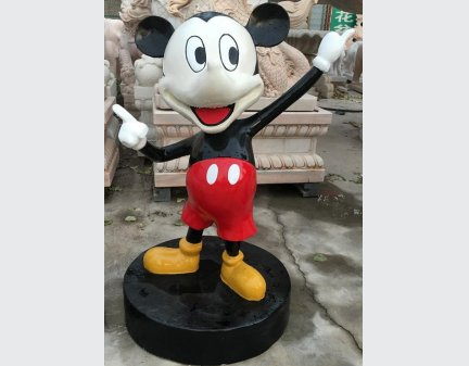 Fiberglass Polyresin Craft,Cartoon Sculpture of Mickey Mouse and Donald Duck