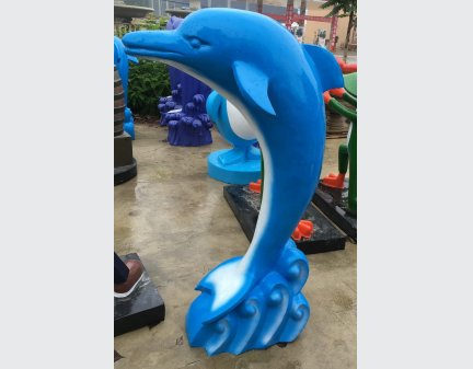 Resin,Fiberglass,Cartoon Sculpture  animals of dolphin home decoration