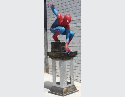 Relief Art Sculpture Cartoon of the super spider-Man