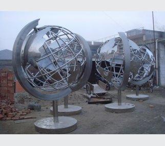 Garden Sculpture,Stainless Steel Sculpture of slivery tellurion