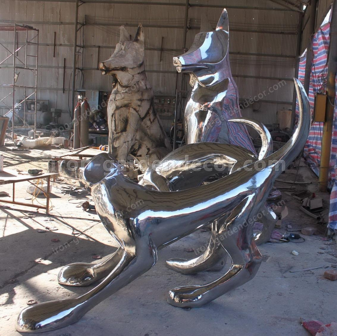 Stainless Steel large dog animal Sculpture,statue-IMG_2260