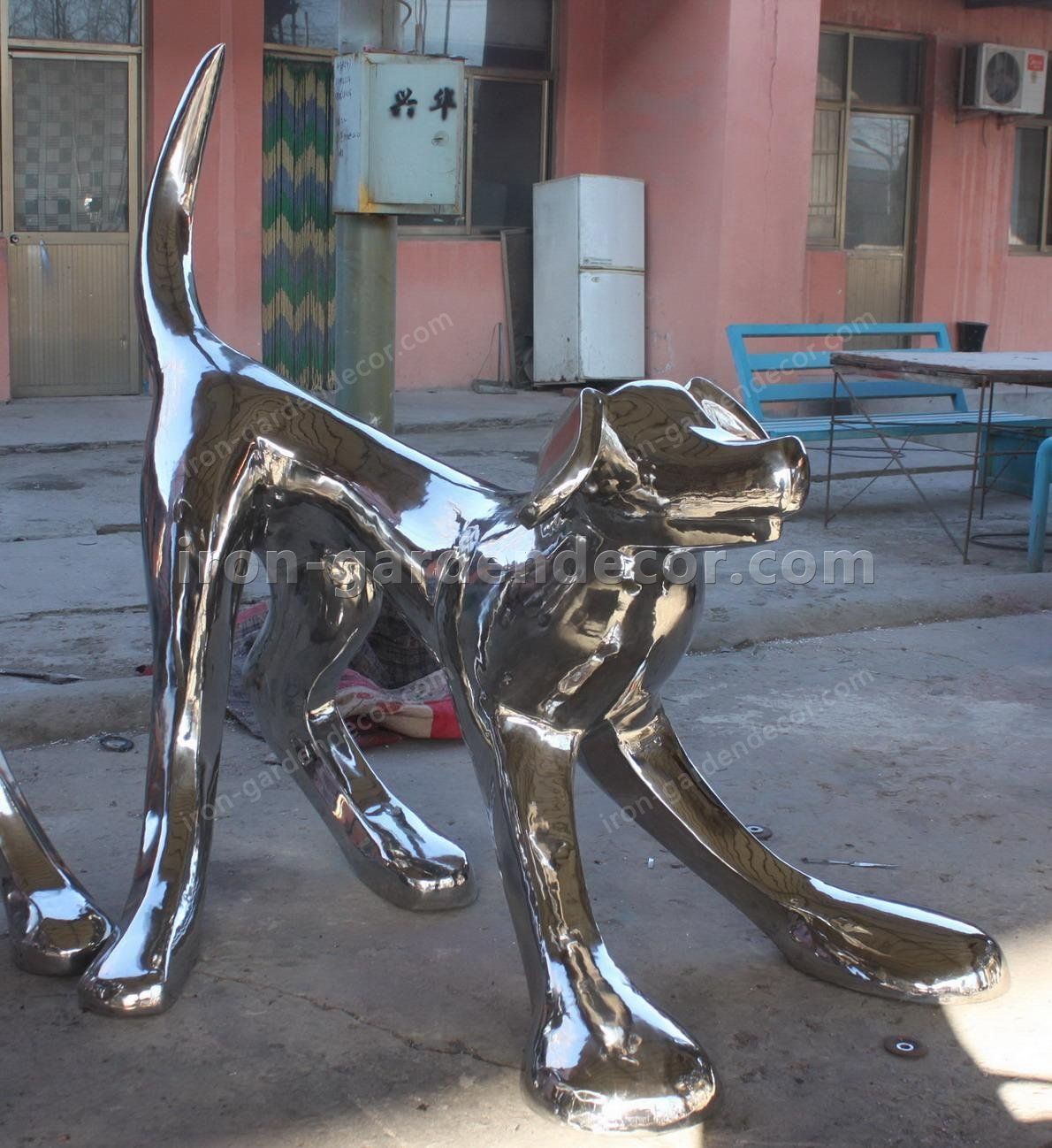 Stainless Steel large dog animal Sculpture,statue-IMG_2263
