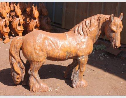 metal animal yard art little horse
