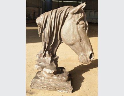 iron horse head,garden decor