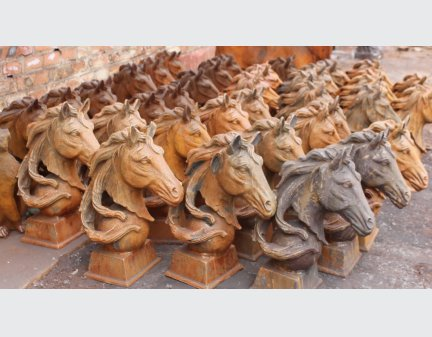 horse head metal,metal art sculpture