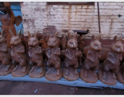 cast iron animals,small statue rabbit