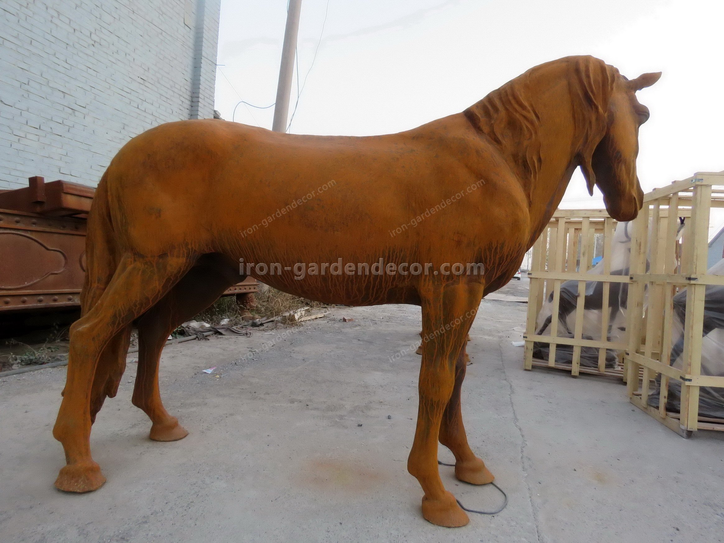 normal size cast iron animal of horse garden animal, large horse animal-SS6027 (1)