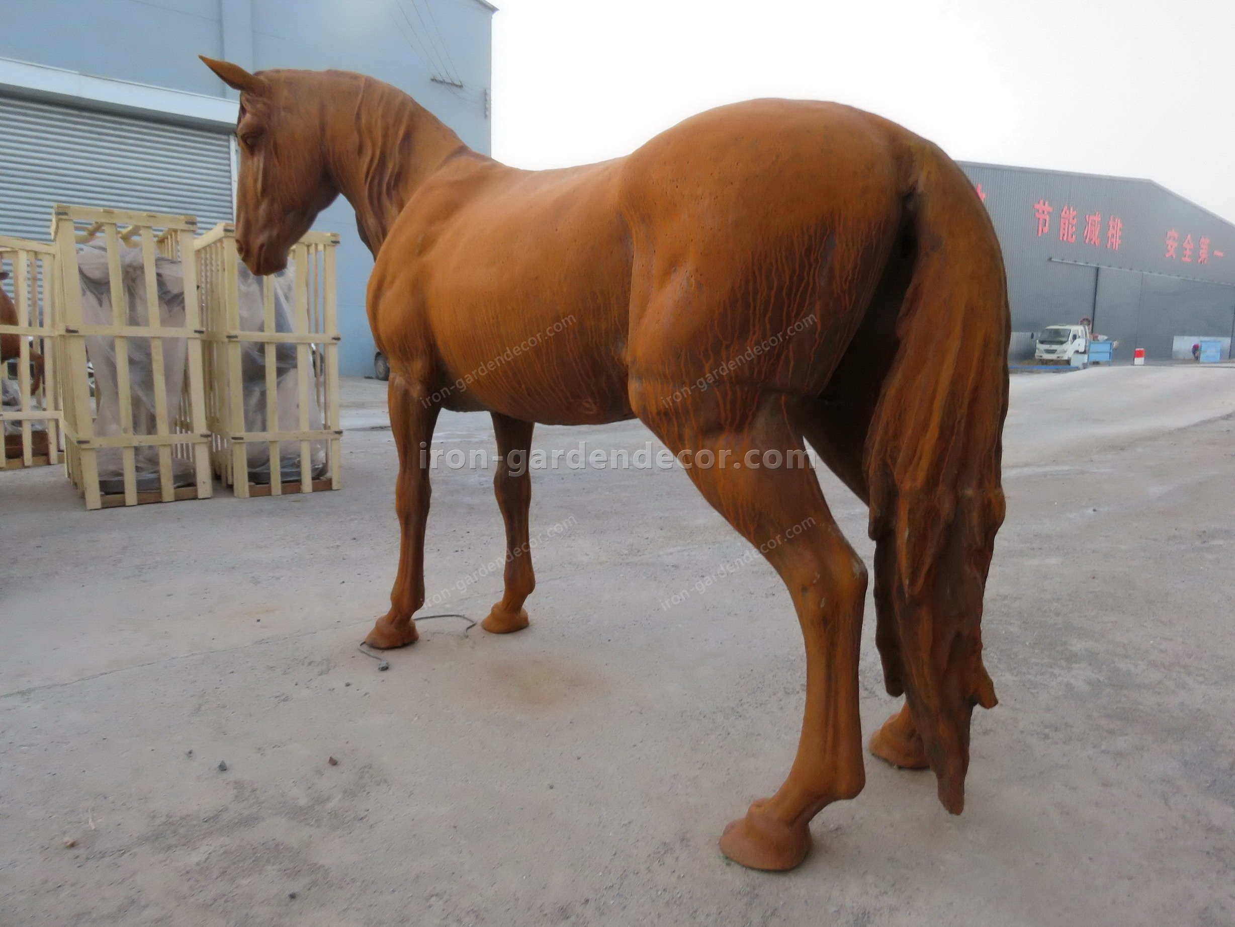 normal size cast iron animal of horse garden animal, large horse animal-SS6027 (12)