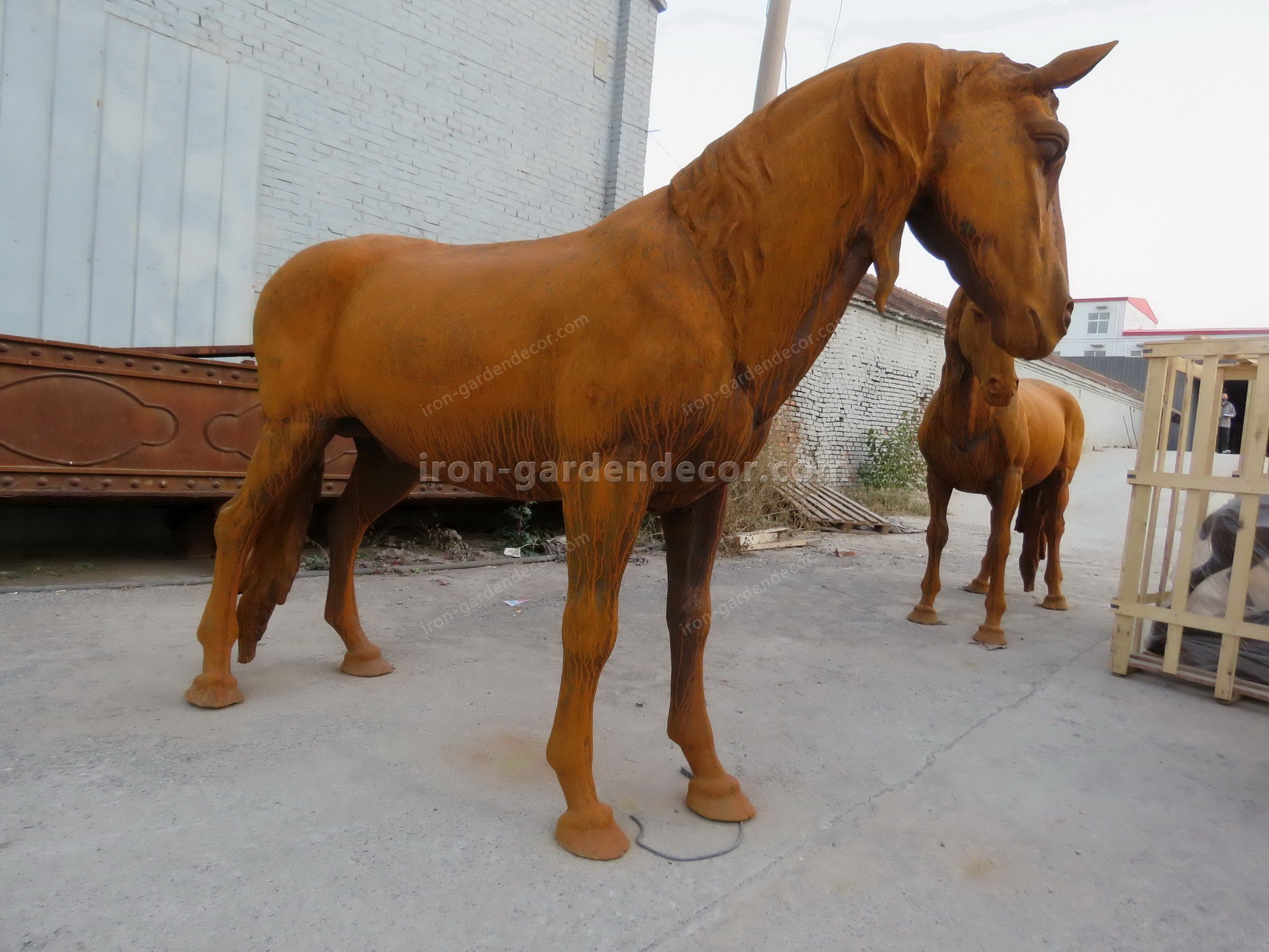normal size cast iron animal of horse garden animal, large horse animal-SS6027 (14)