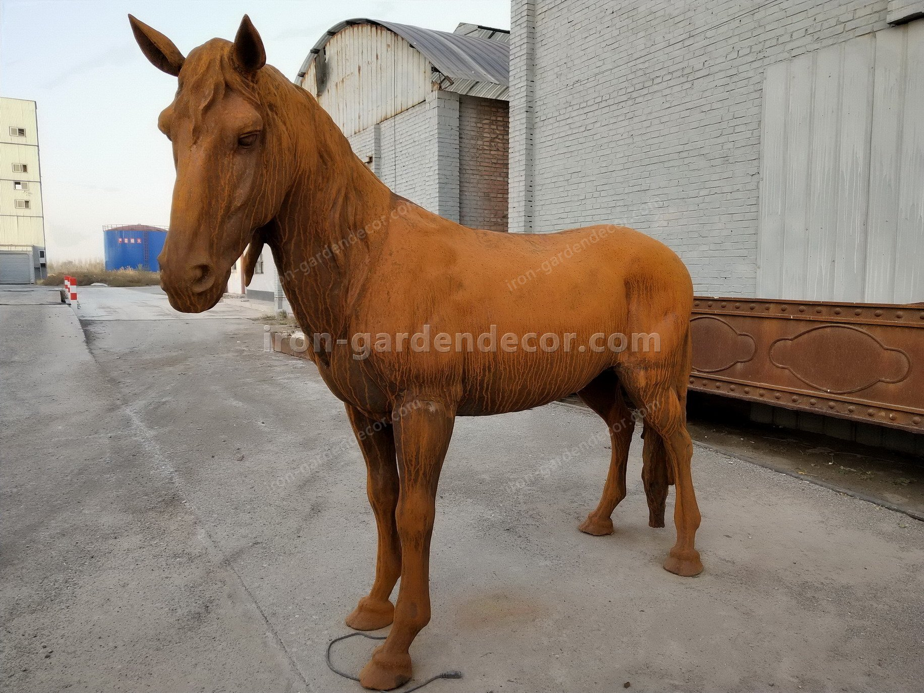 normal size cast iron animal of horse garden animal, large horse animal-SS6027 (17)