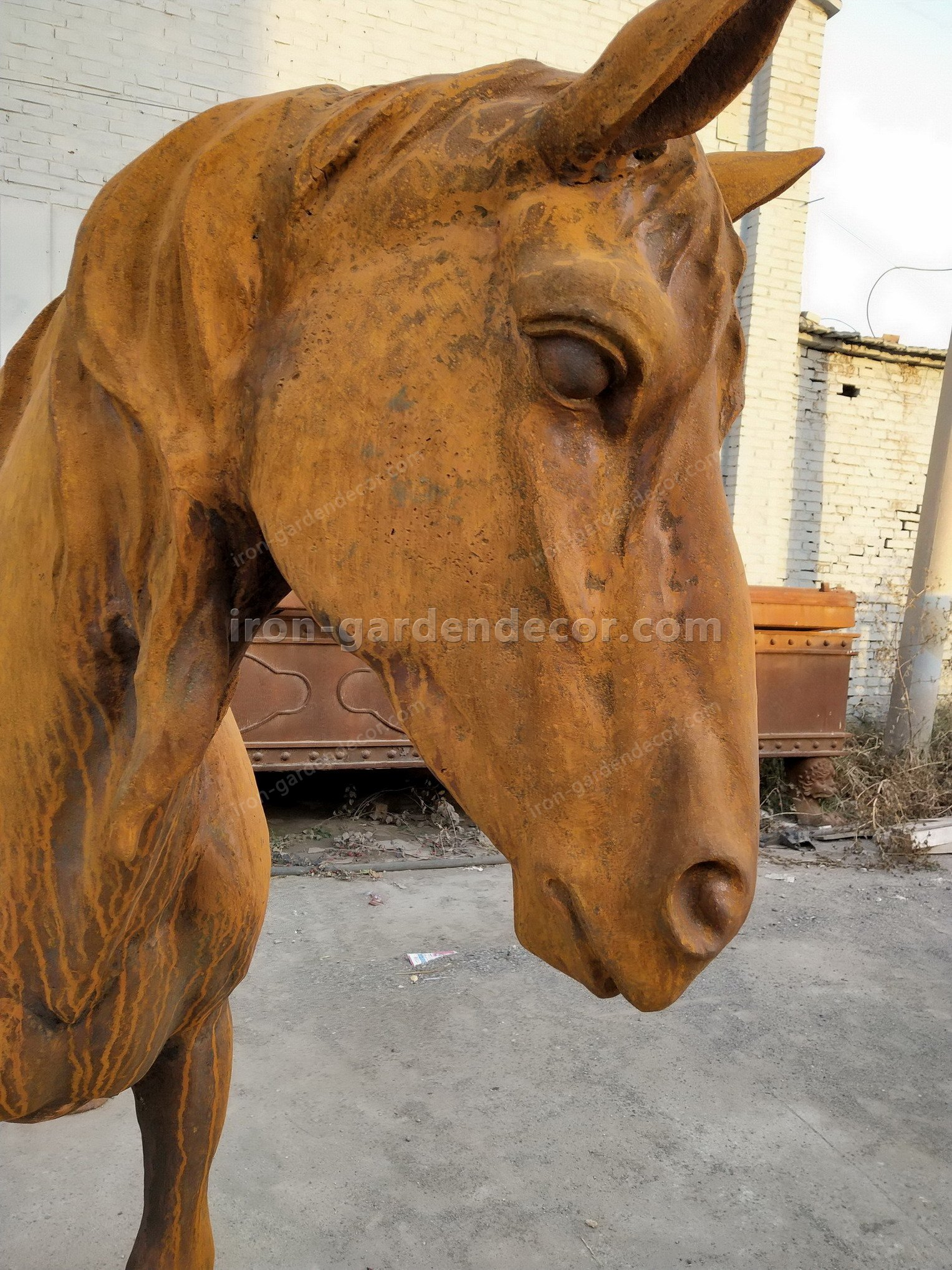 normal size cast iron animal of horse garden animal, large horse animal-SS6027 (20)