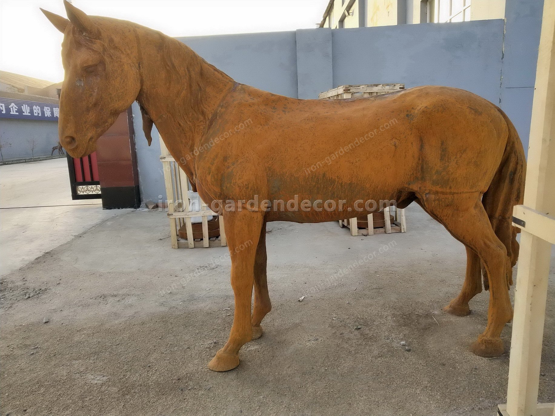 normal size cast iron animal of horse garden animal, large horse animal-SS6027 (24)