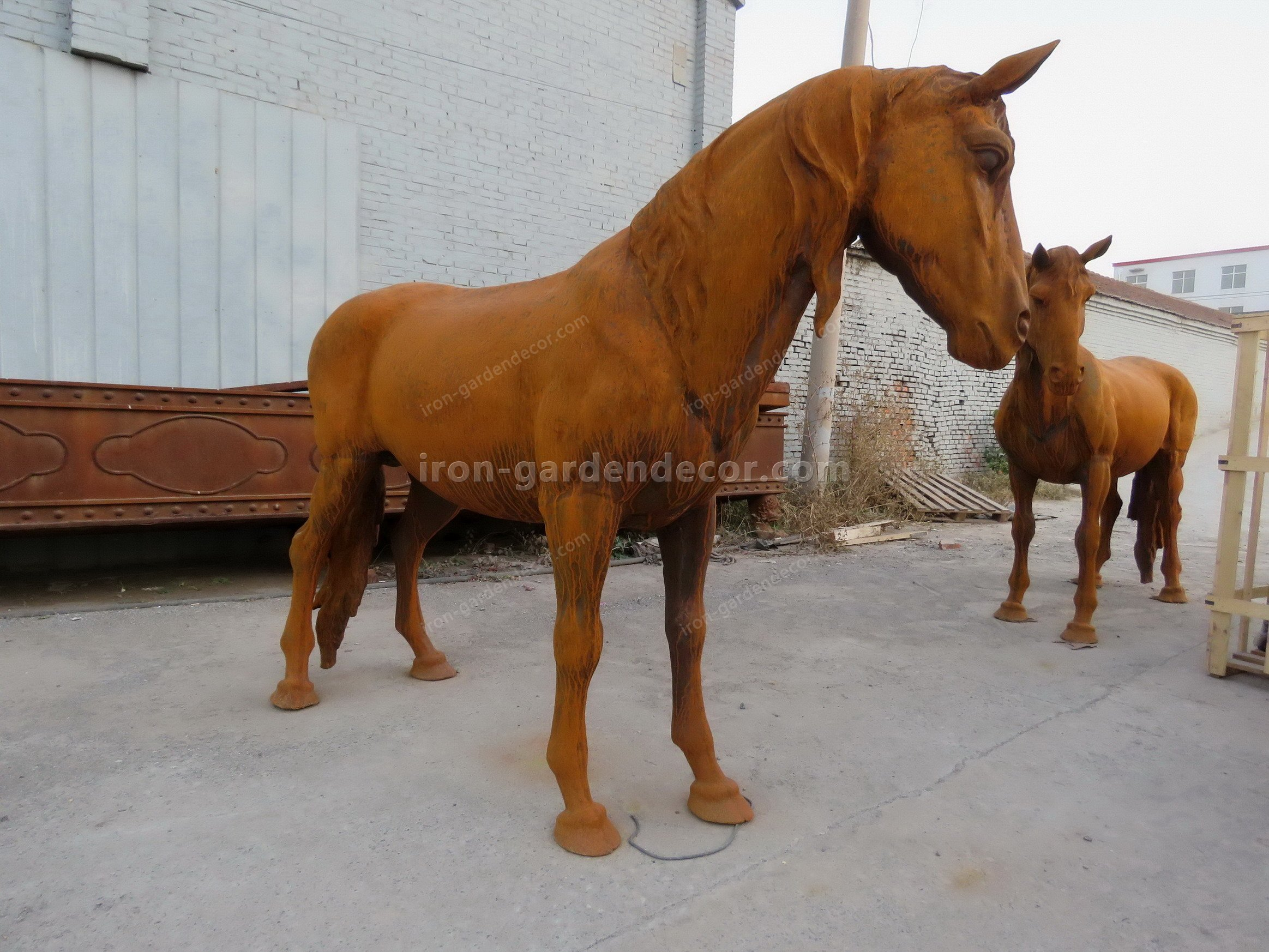 normal size cast iron animal of horse garden animal, large horse animal-SS6027 (3)