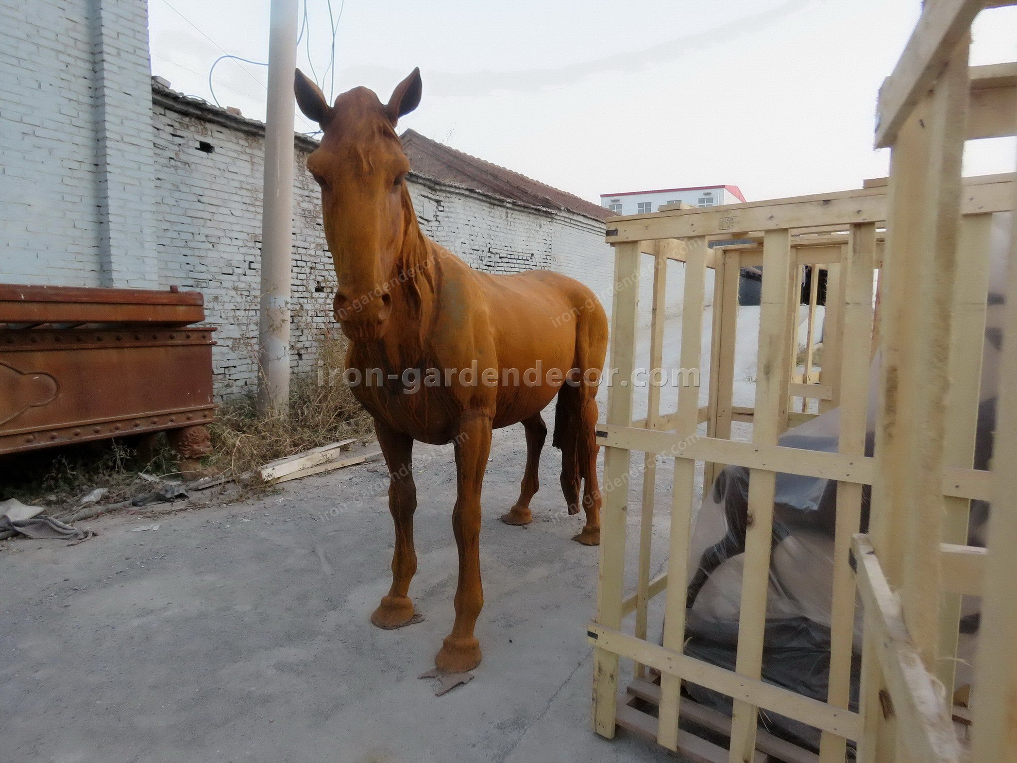 normal size cast iron animal of horse garden animal, large horse animal-SS6027 (5)