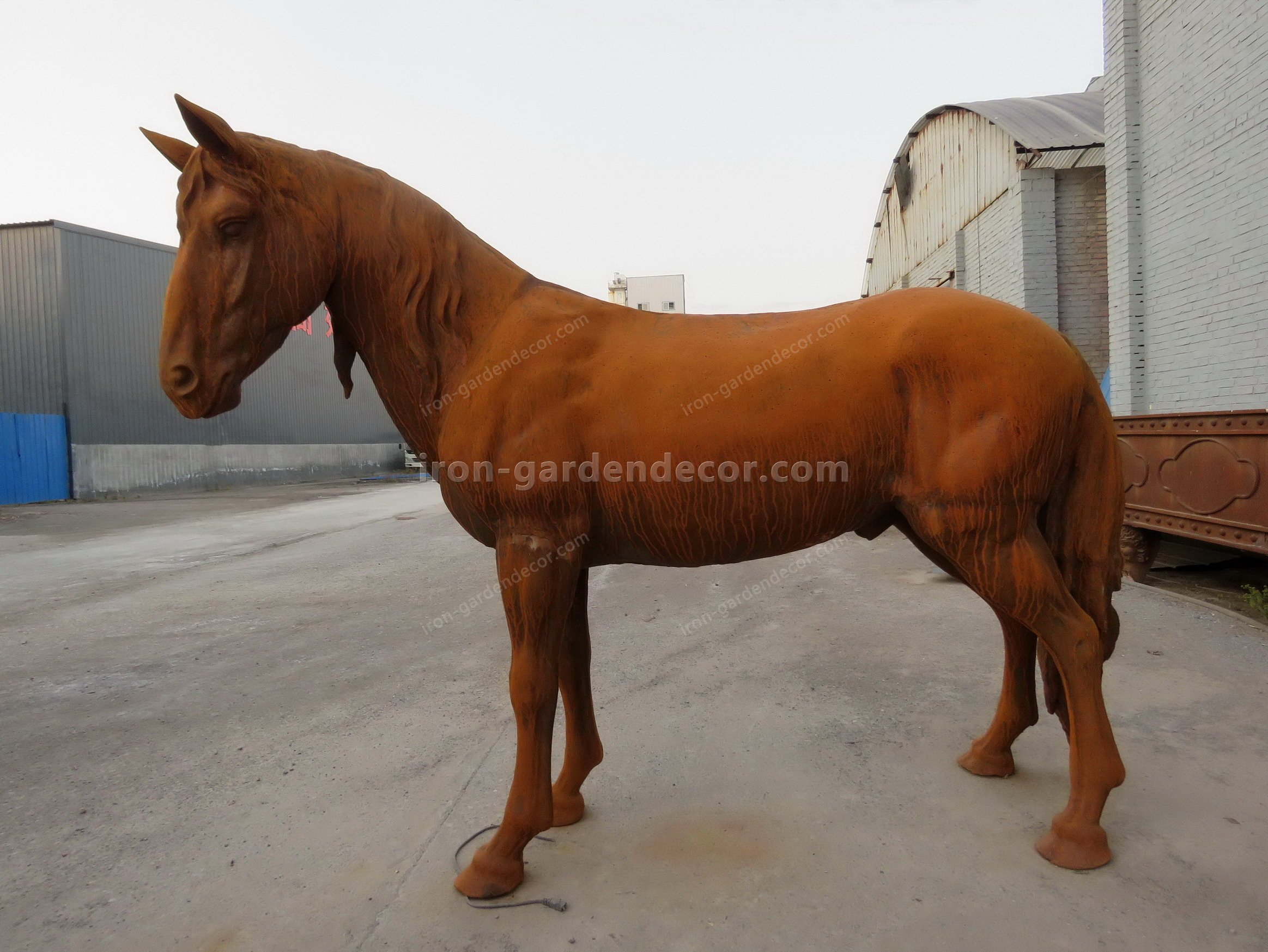 normal size cast iron animal of horse garden animal, large horse animal-SS6027 (6)