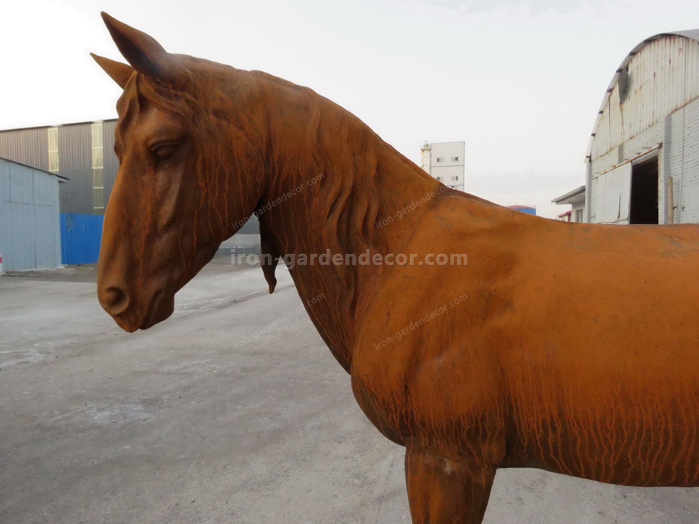 normal size cast iron animal of horse garden animal, large horse animal-SS6027 (7)