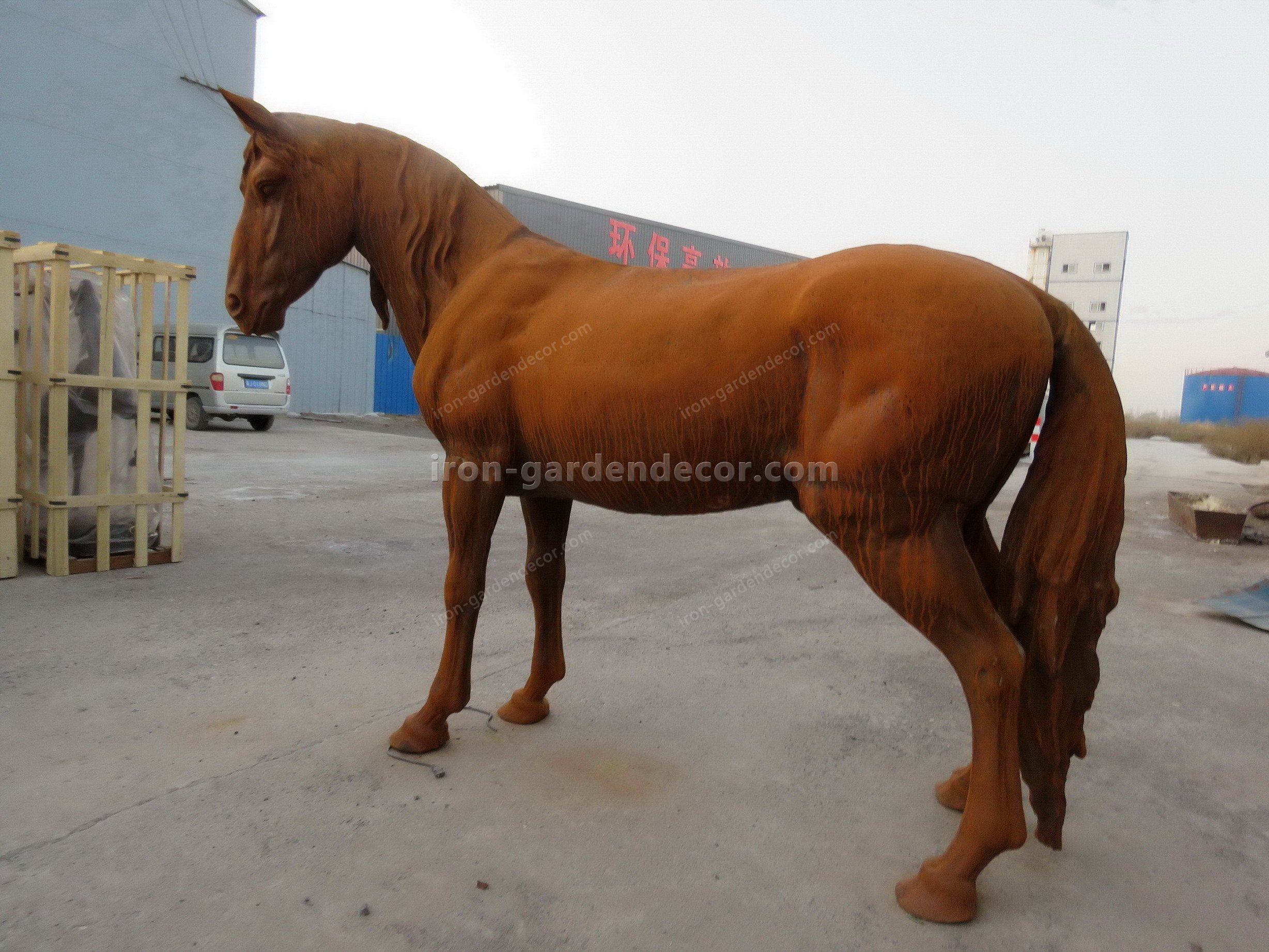 normal size cast iron animal of horse garden animal, large horse animal-SS6027 (8)