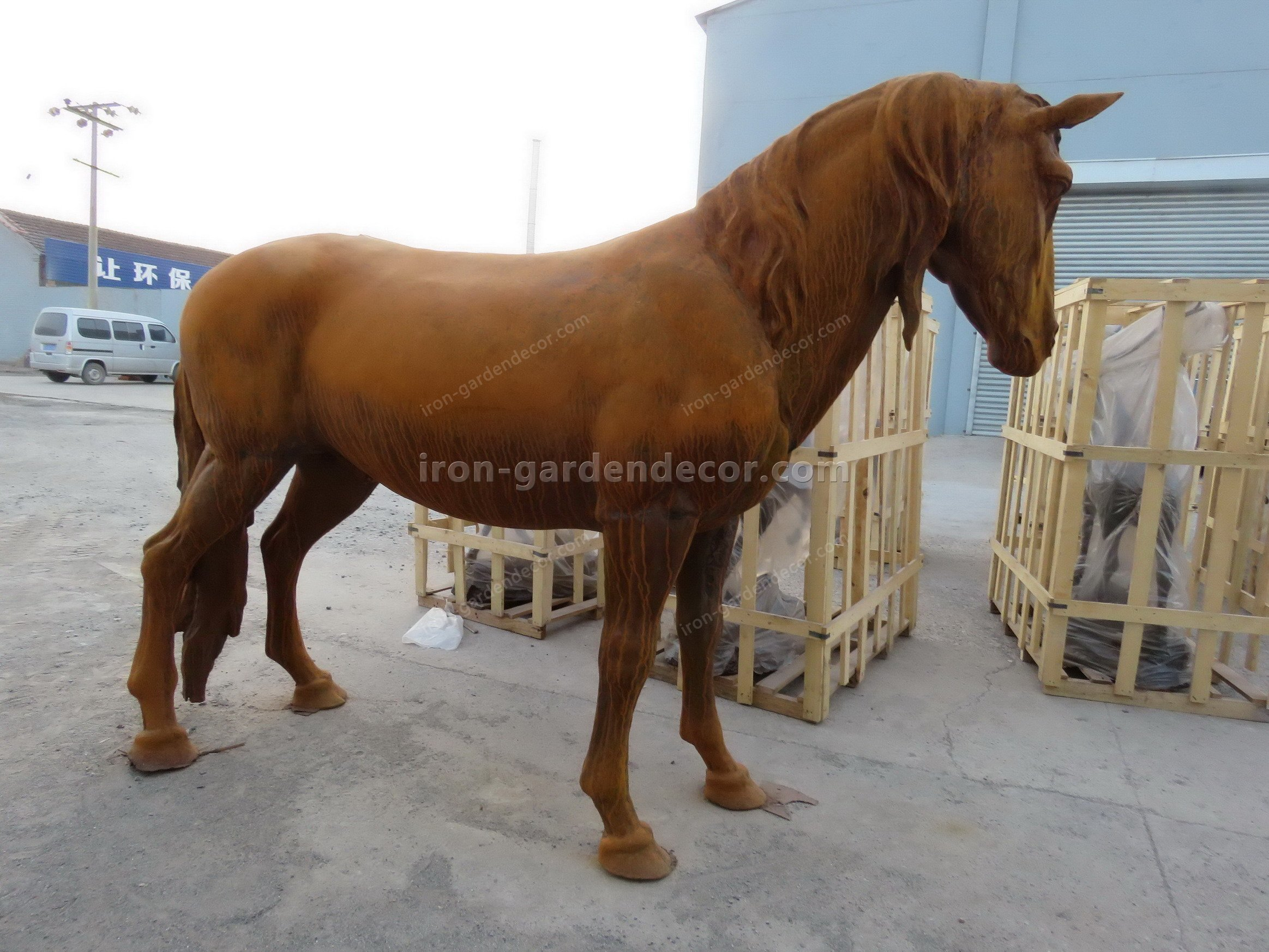 normal size cast iron animal of horse garden animal, large horse animal-SS6027 (9)
