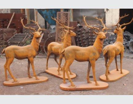cast iron sculpture,metal animals wholesale stags