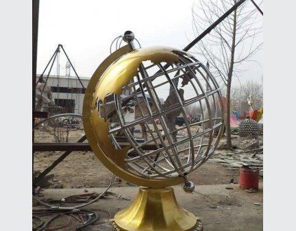 Stainless Steel Sculpture,Garden Sculpture world map