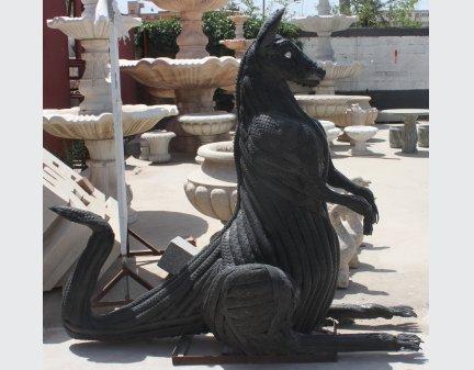 animal sculpture,tire animals,belt animals kangraoo