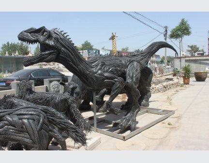 Tire regeneration animal sculpture,tire animal