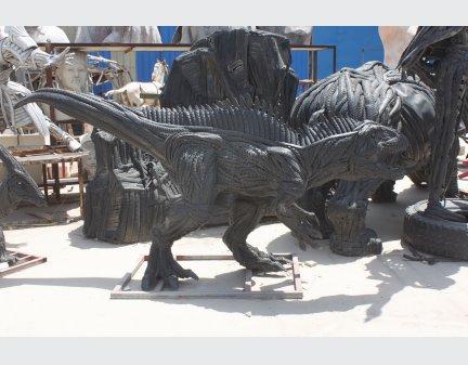 Tire animal sculpture,belt animals dinosaur