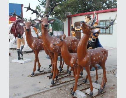 Customize Artwork,Fiberglass Art deer