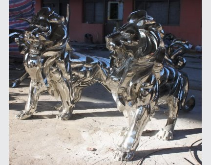 Art Sculpture,Stainless Steel Sculpture lion
