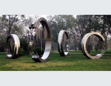 Large Stainless steel sculpture for park,garden decoration