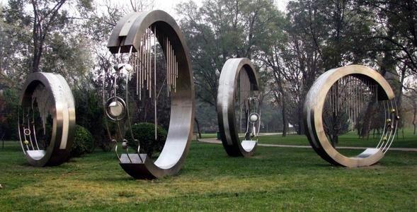 Garden Sculpture Modern Art Sculpture stainless steel abstract-1