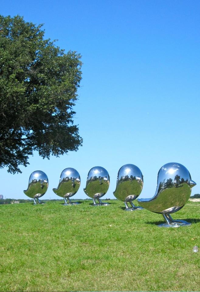 outdoor Art Garden Sculpture stainless steel dolphins-17 (4)