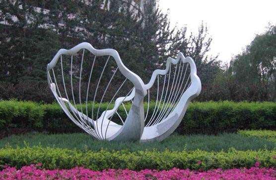 outdoor Art Garden Sculpture stainless steel dolphins-5